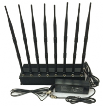 Desktop 8 Channels Cell Phone Signal Jammer 5G Mobile Phone 3.5G 3.7G Blocker