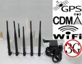 15W High Power 6 Antennas GPS WiFi Bluetooth 3G Cellphone Signal Jammer