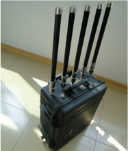 80W Powerful 5 Antennas Portable Wireless Anti-explosion Signal Blocker