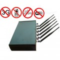 10W Powerful Adjustable WiFi Bluetooth GPS 3G Cellphone Signal Blocker