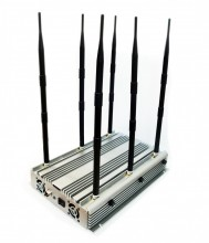 70W 6 Bands Desktop WiFi GPS 3G Phone Jammer Up to 100 Meters