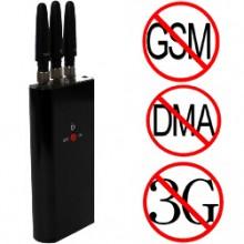 3 Antennas Portable Mini Mobile Phone Signal Jammer