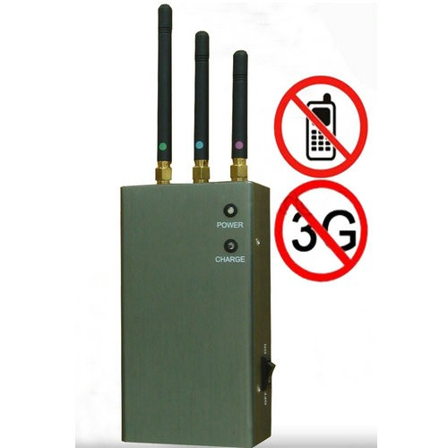 10 Antennas Mobile Jammer - Portable GPS Jammer, 2G and 3G Mobile Phone Signal Jammer