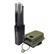 Portable 10 Antennas Jammer Mobile Phone LOJACK GPS WiFi(2.4G, 5.8G) Signal Blocker
