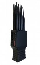 Handheld 10 Antennas Jammer All Cell Phone WiFi UHF VHF Blocker