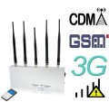 10W High Power 2G 3G Mobile Phone Signal Jammer with Remote Control