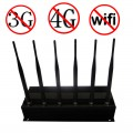 15W 2G 3G Mobile Phone GPS WiFi Signal Jammer with 6 Antennas