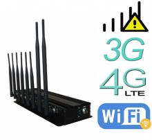 15W Tabletop Powerful 8 Antennas WiFi Bluetooth 3G 4G Mobile Phone Signal Jammer