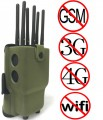 Powerful 6 Antennas Handheld Selectable WiFi Jammer 3G/4G Mobile Phone Jammer with Carry Case