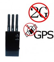 5 Bands Portable GPS 2G Cellphone Signal Blocker