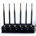 Adjustable Powerful 15W WiFi GPS Cellphone Blocker with 6 Antennas