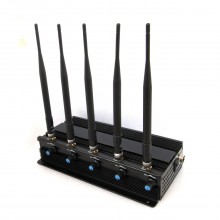 Adjustable 7W Desktop WiFi Bluetooth GPS All Wireless Bug Camera Signal Jammer