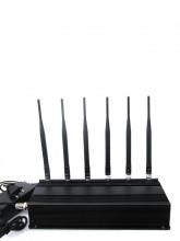 Powerful 15W UHF WiFi 3G Cellphone Signal Jammer with 6 Antennas