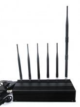 Powerful 15W LoJack 3G 4G Cellphone Signal Jammer with 6 Antennas