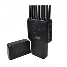 The Newest Selectable Handheld 16 Bands Mobile Phone Jammer Hidden Antenna Blocking 4G Wi-Fi & 5G RF Signal Jammer