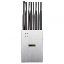 LCD screen 16 antenna handheld 5G mobile phone jammer WiFi GPS UHF VHF RC all-in-one signal jammer