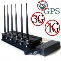 15W High Power Desktop Adjustable GPS 3G 4G Cellphone Signal Jammer