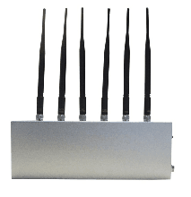 12W High Power WiFi Bluetooth 3G Cellphone Signal Jammer with 6 Antennas