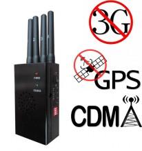 4 Antennas Handheld GPS 3G Cellphone Signal Blocker
