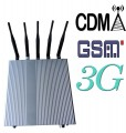 12W Powerful Desktop Style 3G Cellphone Signal Jammer with 5 Antennas