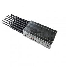 Handheld Design 12 Antennas WiFi2.4G+ GPSL1 L2 L5 +LOJACK+RC433 315 868 + Mobile Phone 4G/3G/2G Signal Jammer