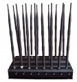 16 Antennas Adjustable Powerful All Bands WiFi UHF VHF GPS Lojack Signal Jammer & 3G 4G Signal Blocker
